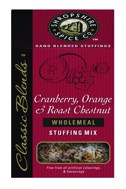 Cranberry, Orange & Roasted Chestnut Wholemeal Stuffing