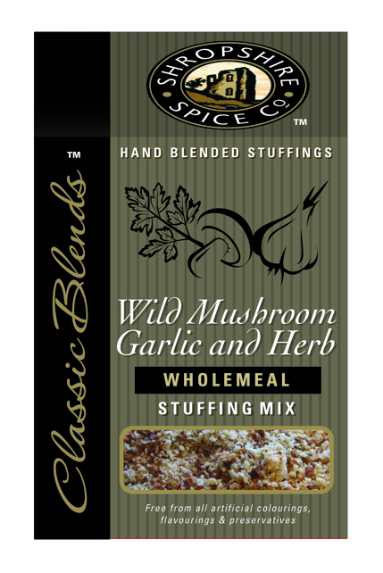 Wild Mushroom, Garlic & Herb Wholemeal Stuffing Mix